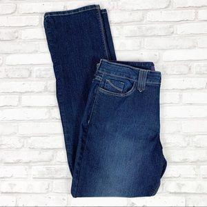 NYDJ High Rise Dark Wash Lift Tuck Straight Jeans